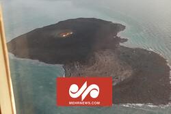 VIDEO: Aerial footage of volcanic eruption in Caspian Sea