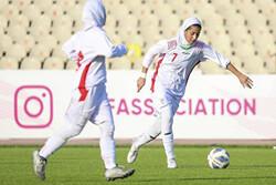 تیم فوتبال دختران ایران برابر ازبکستان شکست خورد
