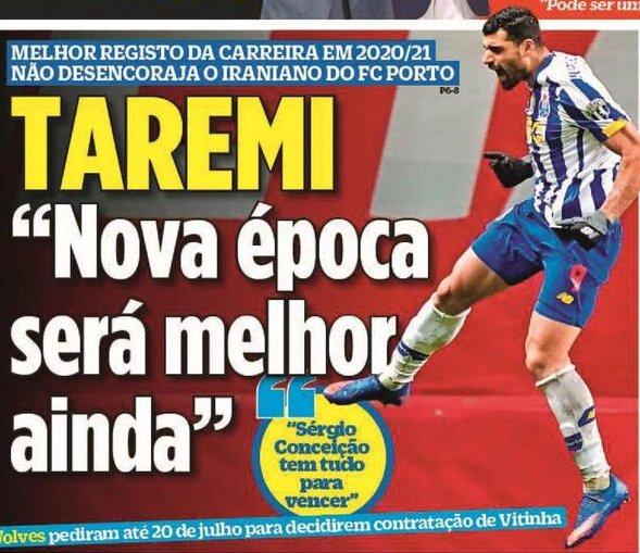 مهدی طارمی در جمع ۱۰ کاندیدای کسب عنوان بهترین بازیکن پرتغال