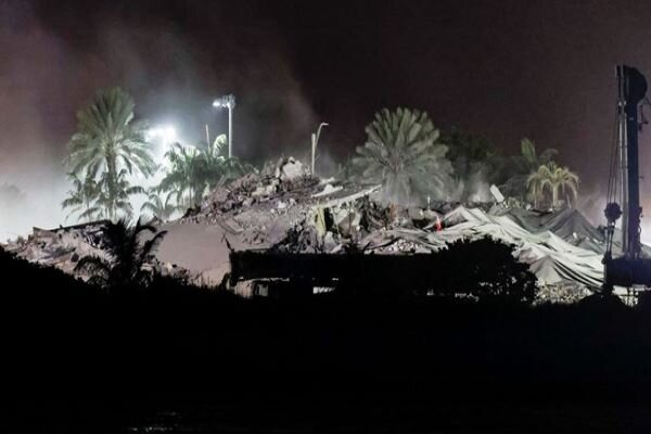 Rest of collapsed Florida tower demolished (+video)