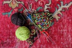 جوراب بافی سنتی در مازندران