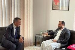 رایزنی مقام انصارالله یمن با رئیس کمیته بین المللی صلیب سرخ