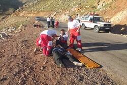 واژگونی مینیبوس کوهنوردان کرمانشاهی در راه بازگشت از قله شاهو