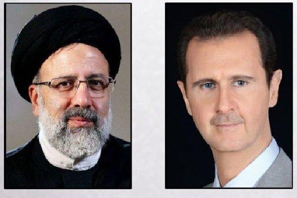 Raeisi, Assad stress boosting Iran-Syria coop.