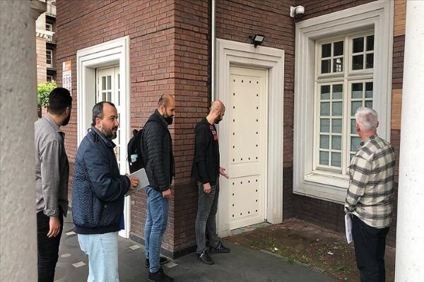 A mosque attacked by anti-Islamists in Amsterdam