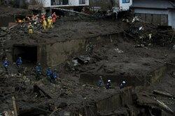 جستجو برای نجات مفقودشدگان جاری شدن سیل و رانش زمین در ژاپن