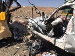 مرگ ۵ نفر در تصادف اتوبوس، تریلر و لیفان/۸ نفر مصدوم شدند