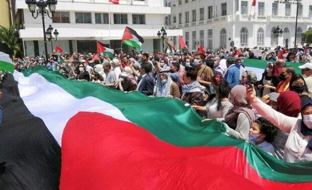 مظاهرات أمريكية تطالب باحترام حقوق الشعب الفلسطيني