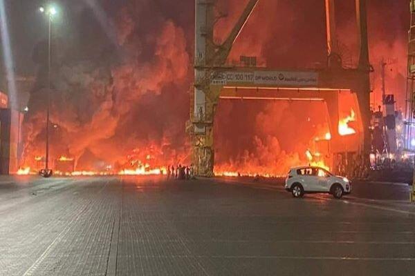 دولت امارات به انفجار مهیب بندر «دبی» واکنش نشان داد