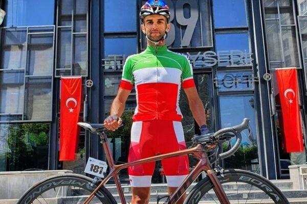 رکابزن المپیکی ایران دوچرخه جدیدش را تحویل گرفت