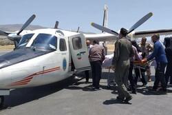 انتقال مادر باردار ایلامی توسط هواپیمای اورژانس به تهران