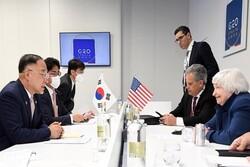اتفاق للتعاون بين كوريا الجنوبية واميركا حول الارصدة الايرانية المجمدة
