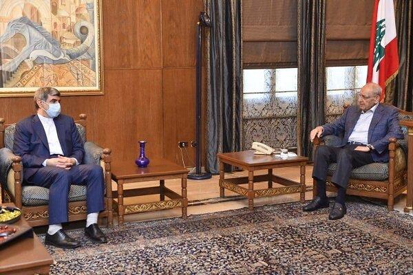 السفير الايراني في بيروت يلتقي نبيه بري