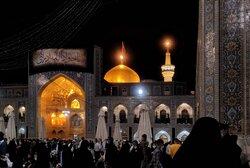 حضرت امام محمد تقی (ع) کی شہادت کی مناسبت سے حرم مطہر رضوی کا منظر