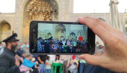 Mourning ceremonies at Razavi Shrine