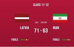 پایان کار تیم بسکتبال جوانان ایران با دوازدهمی در جام جهانی