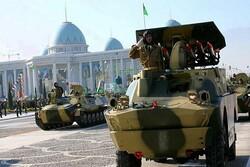 استقرار توپخانه های ارتش ترکمنستان در مرز  با افغانستان