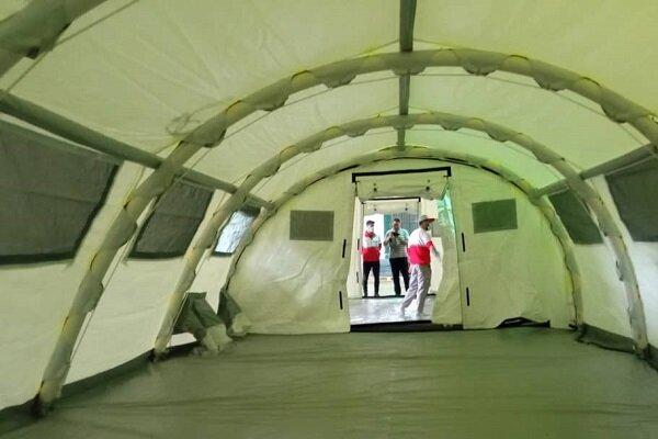 برپایی بیمارستان صحرایی برای مداوای بیماران کرونایی در خلخال