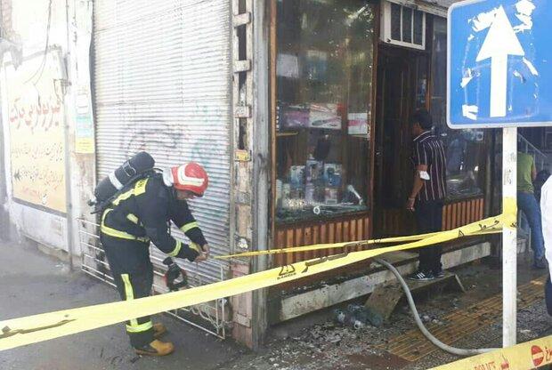 آتشسوزی یک واحد تجاری در پاساژ «پلاسکو» شهر خرمآباد
