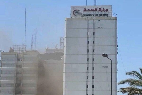العراق ... اندلاع حريق داخل مبنى وزارة الصحة