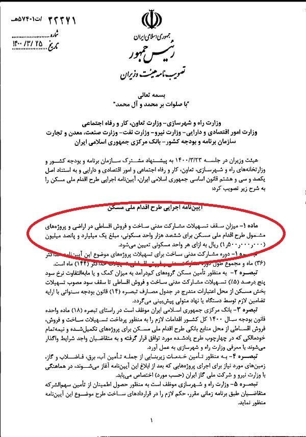 وام ۲۵۰میلیون تومانی مسکن ملی در انتظار اصلاح آئیننامه