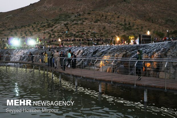 Largest artificial waterfall in Iran inaugurated