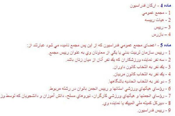 تدوین آئیننامه انتخابات فدراسیونها بدون تعیین «رئیس مجمع»
