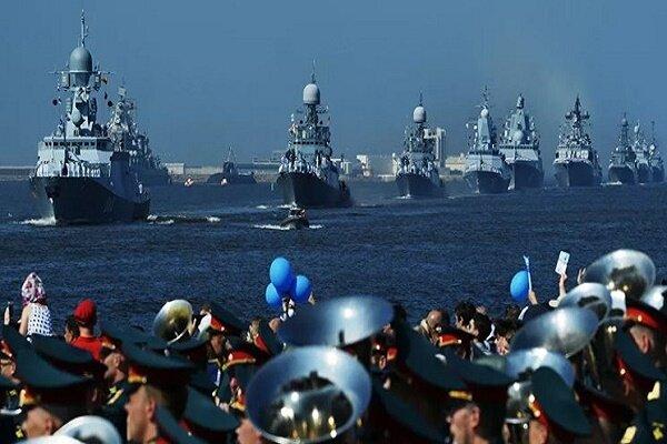 اقامة عرض بحري روسي كبير بحضور سفن إيرانية