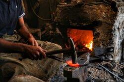 Traditional blacksmithing in N Iran