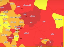 ۹ شهر اصفهان در وضعیت قرمز کرونا/۹ شهر در وضعیت نارنجی ثبت شد