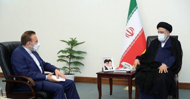دیدار دبیر شورایعالی انقلاب فرهنگی ورئیس دفتر رئیسجمهور با رئیسی