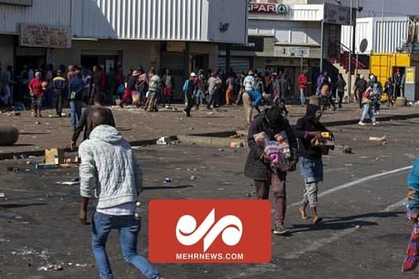 جنوبی افریقہ میں ہنگامہ ارائی کے دوران دکانوں کو لوٹ لیا گیا