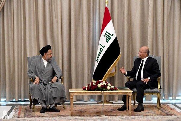 وزير الأمن الإيراني يلتقي الرئيس العراقي في بغداد