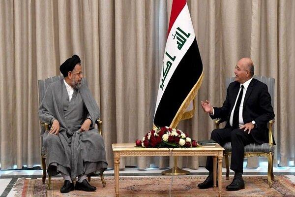 Iran intelligence minister holds talks with Iraqi president