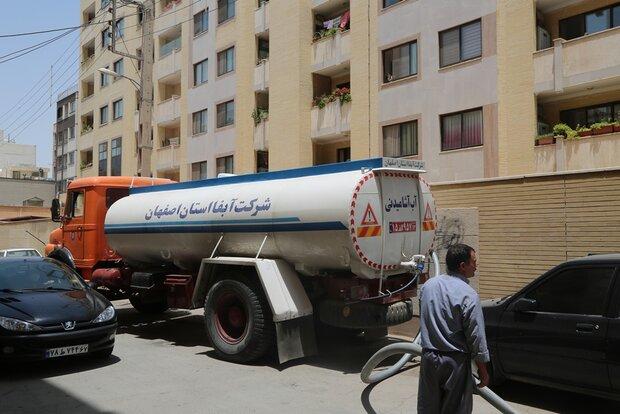 بیش از ۳ میلیون لیتر آب با ۴۳۸ دستگاه تانکر در اصفهان توزیع شد