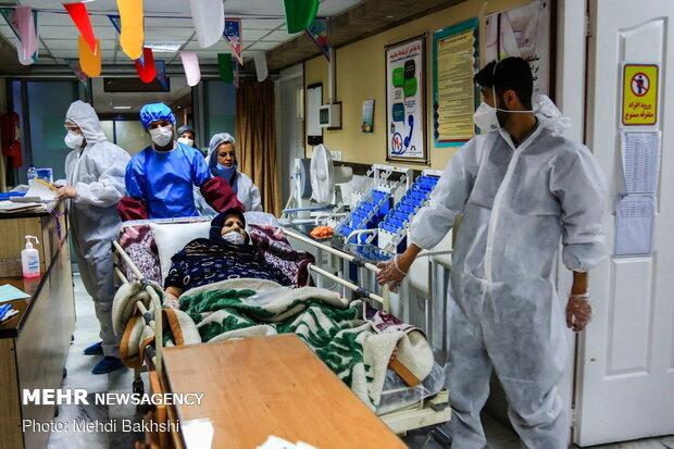 بیمارستان بوئینزهرا مملو از بیماران کرونایی