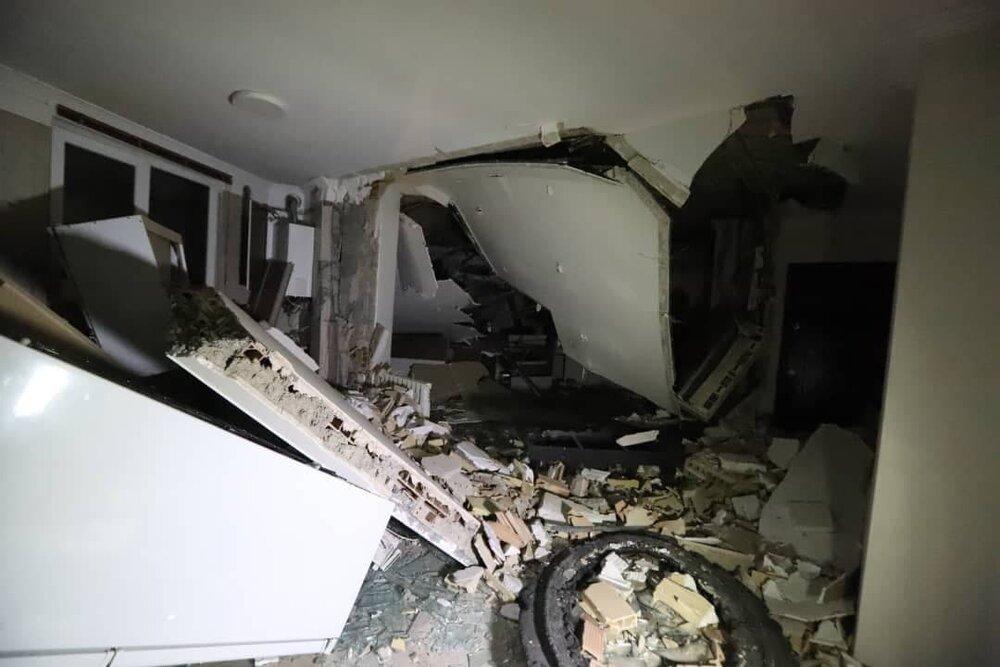 انفجار ساختمانی مسکونی در شهران به دلیل نشت گاز/مصدومیت یک نفر