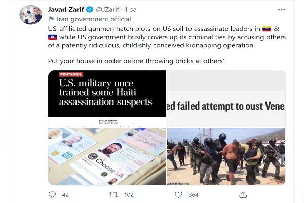Zarif'ten ABD'nin İran iddialarına tepki