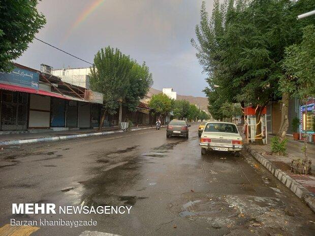 Kürdistan'da yağmur sonrası gökkuşağı sürprizi