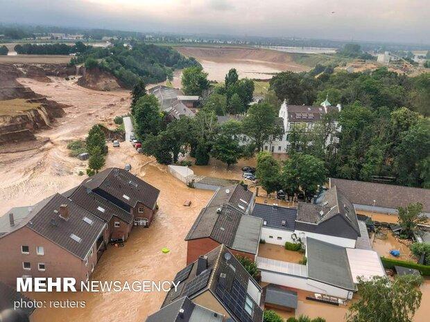 بیلجیئم میں حالیہ سیلاب سے ہلاک ہونے والوں کی یاد میں سوگ کا اعلان