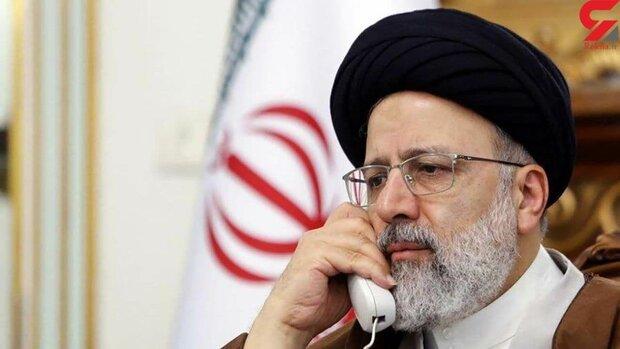 رئيسي يجري مكالمة هاتفية مع ممثل قائد الثورة ومحافظ خوزستان