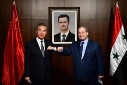چین کے وزیر خارجہ کی شامی وزیر خارجہ فیصل مقداد سے ملاقات