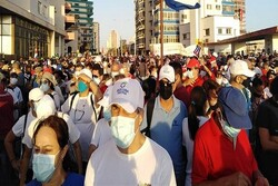 Cubans protest against US, foreign interventions
