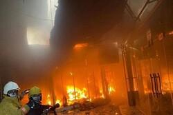 اندلاع حريق بقاعدة الامام علي الجوية في ذي قار العراق
