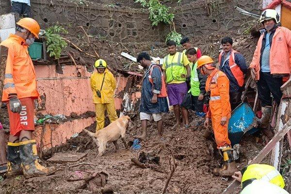 At least 20 killed as heavy rain, landslides hit Mumbai