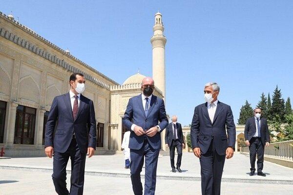 AB Konseyi Başkanı Michel Azerbaycan'da