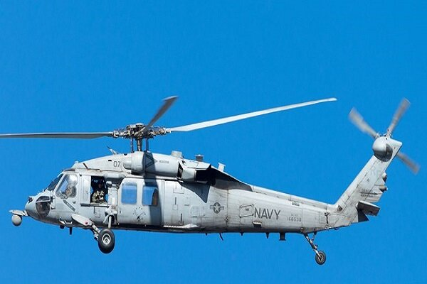 """US Navy """"Knight Hawk"""" helicopter crashes in California Mt."""