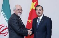 ظريف ونظيره الصيني یبحثان العلاقات الثنائية وأفغانستان