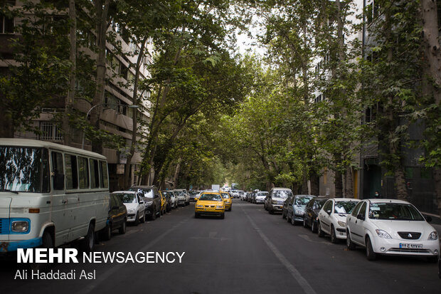Spring weather in middle of Summer in Tehran