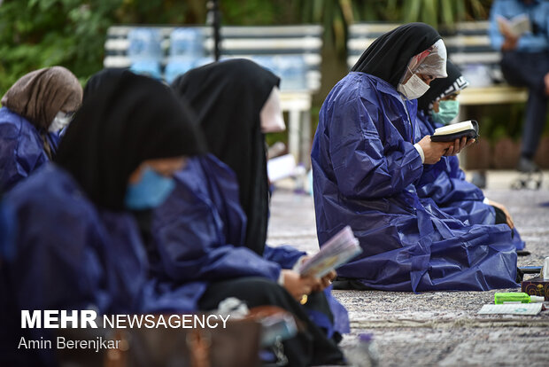 دعای روز عرفه در جمع کادر درمان و گروه های جهادی بیمارستان علی اصغر شیراز